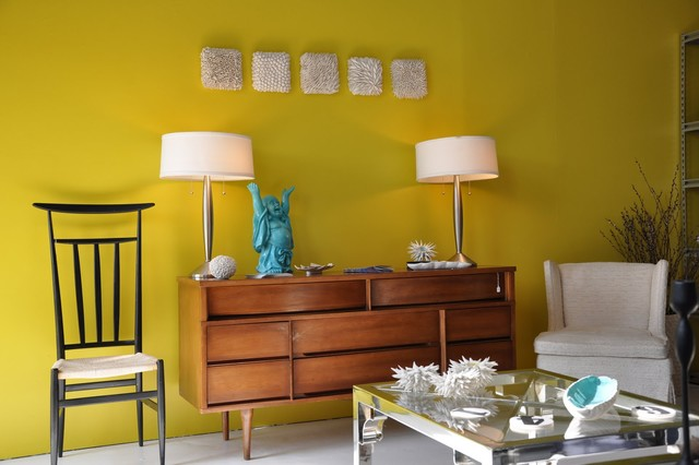 Modern Living Room with Laughing Buddha