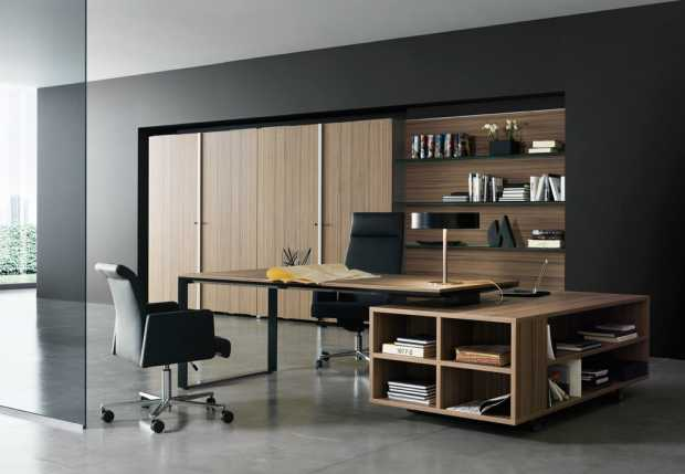 Black Wooden Design Modern Office