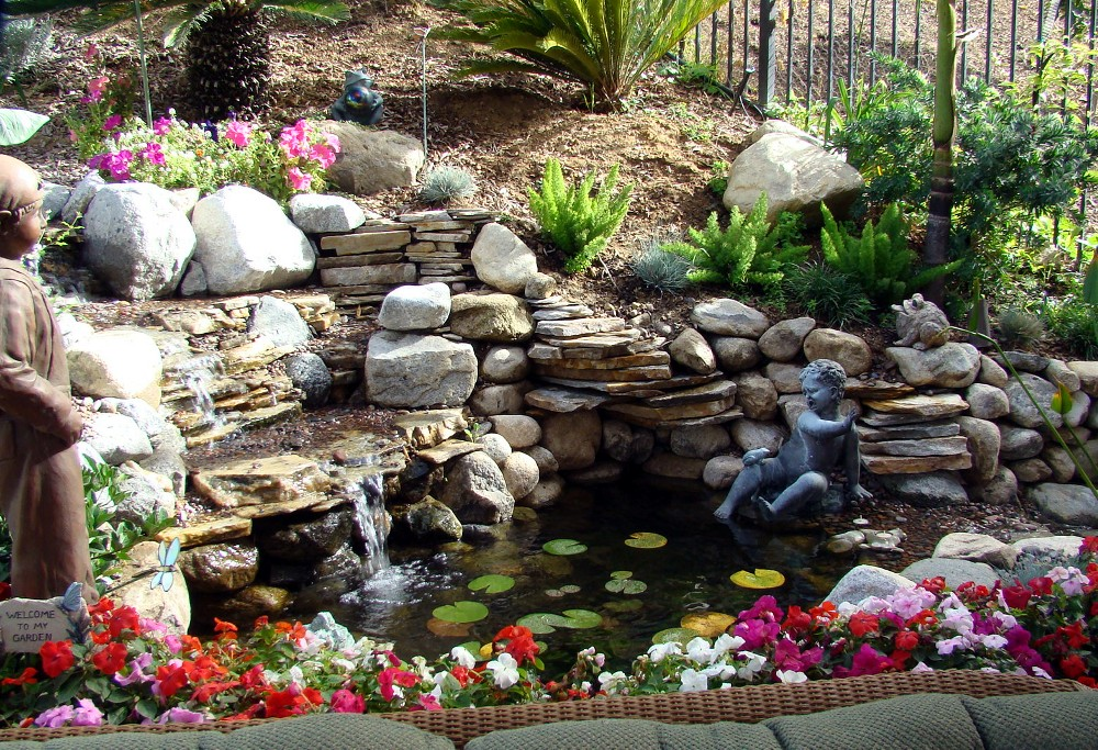 Waterfall for your garden my decorative for Ornamental pond waterfall