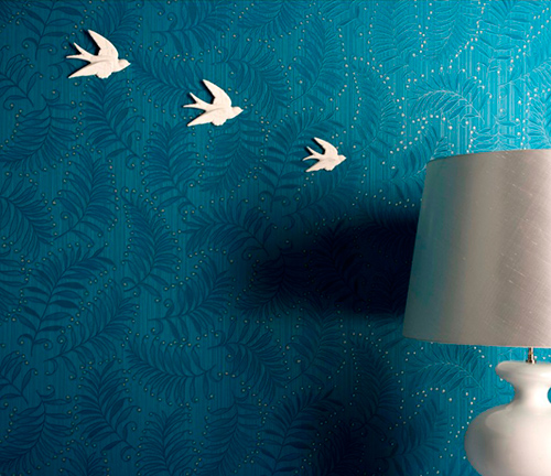 Blue Indoor Wallpaper Design