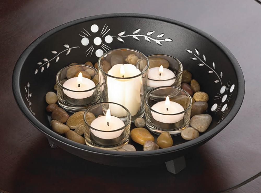 What To Put In A Glass Bowl For Decoration Brilliant Decorative Bowls And Candles  My Decorative Decorating Inspiration