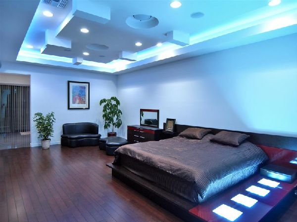 modern bedroom lighting at contemporary
