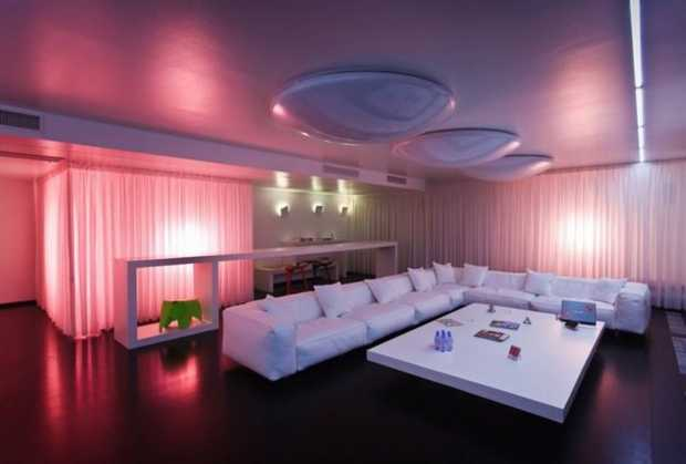 Modern LED Lighting Idea for Living Room