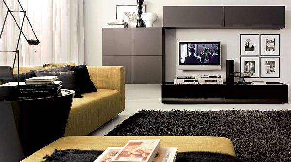 Modern Living Room with Picture on Wall Layout