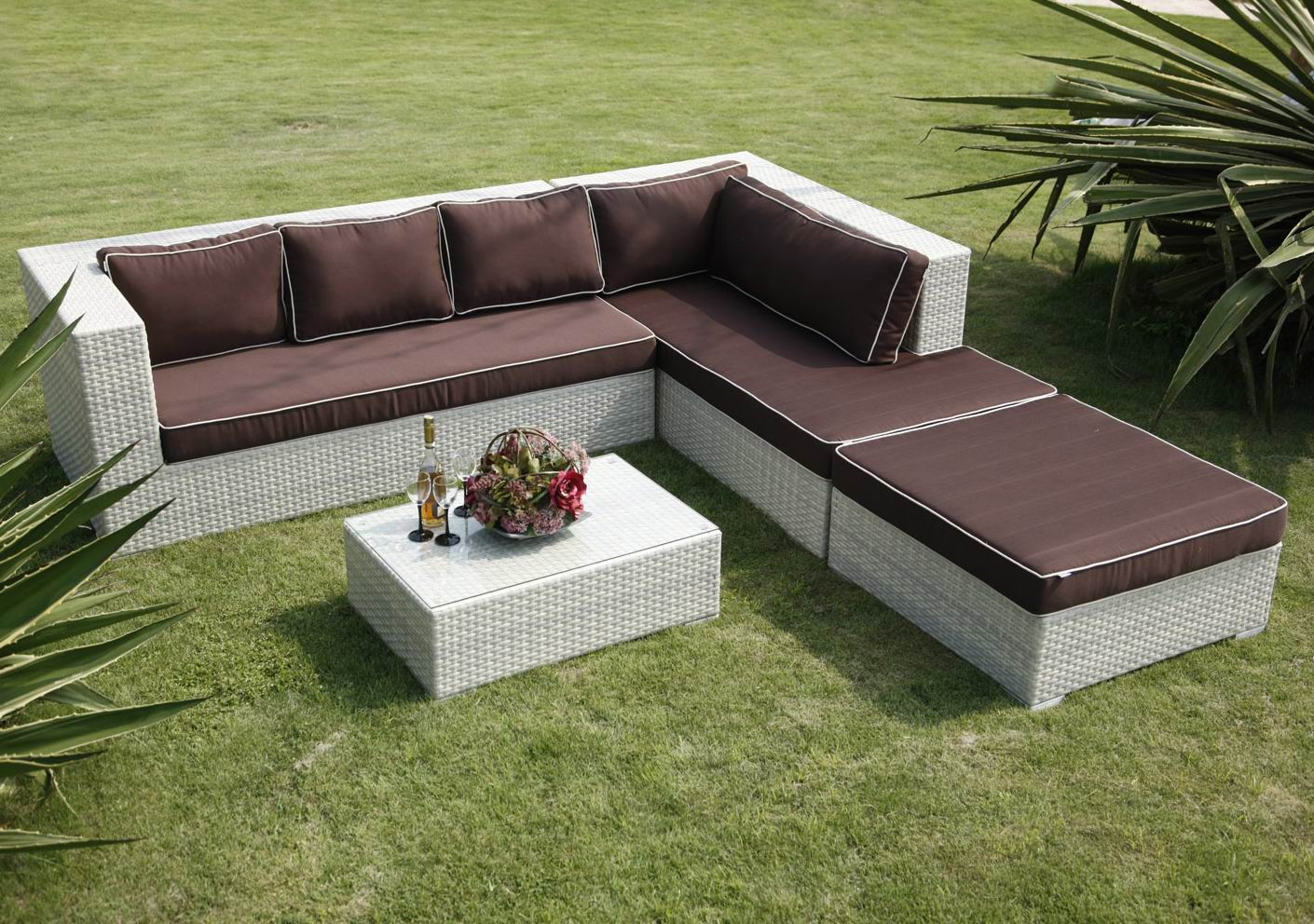 Outdoor Plastic Garden Sofa