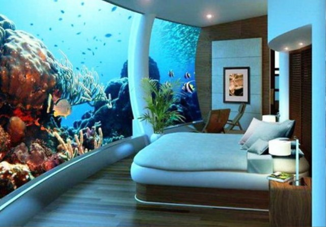 Sea View Cool Adult Bedroom with Romantic Picture on Wall