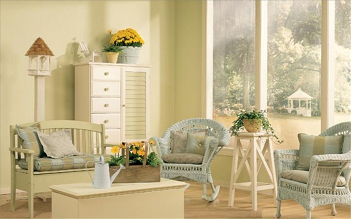 Seaside Country Cottage interior design Cream Color