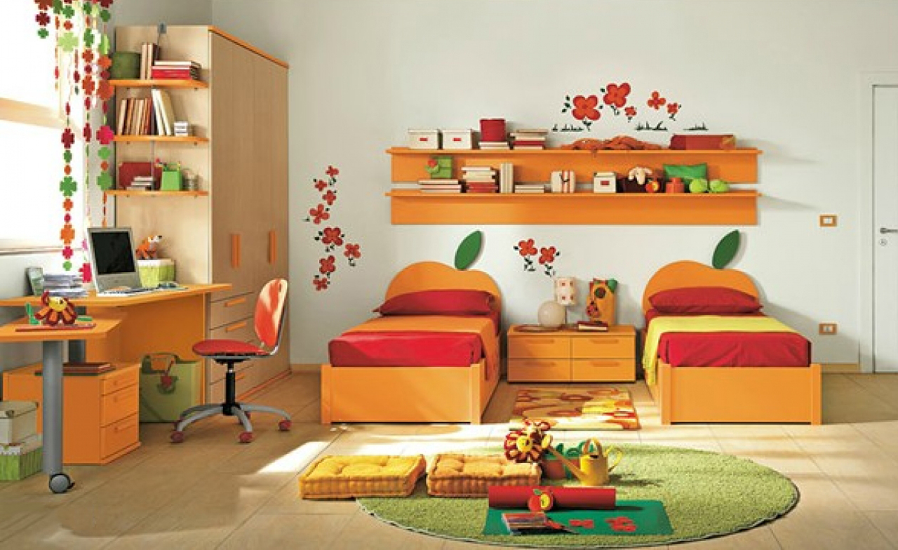 Kids bedrooms for two - Attractive_and_colorful_kids_bedroom_design Decorating A Kid Bedroom