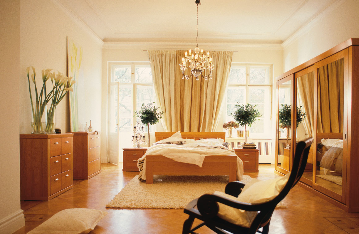 Big Bedroom with Rocking Chair