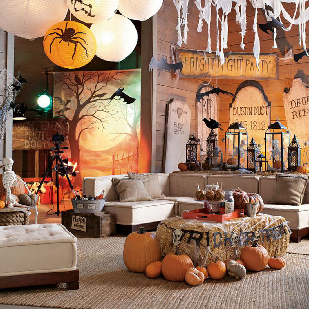 Scary halloween party decoration ideas for Home party decorations
