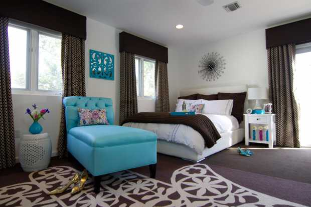 Cyan Bedroom Design Ideas