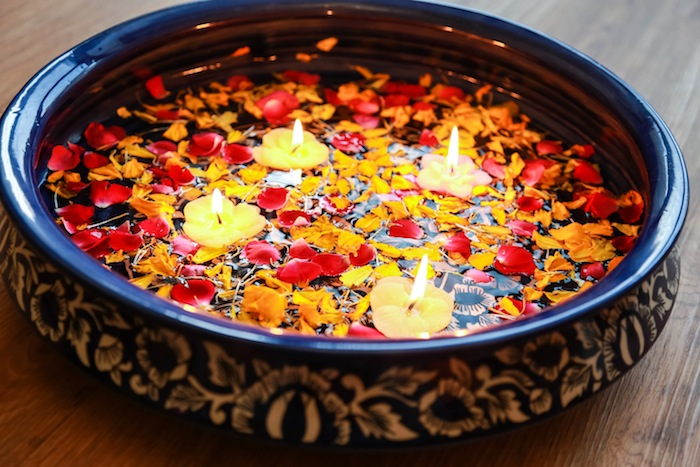 Diwali Floating Diyas with Flowers