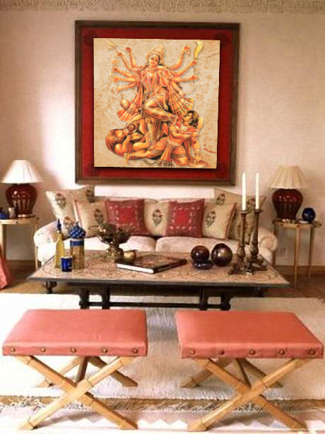 Durga Puja Home Decorating Design
