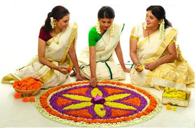 Flower Rangoli Decoration