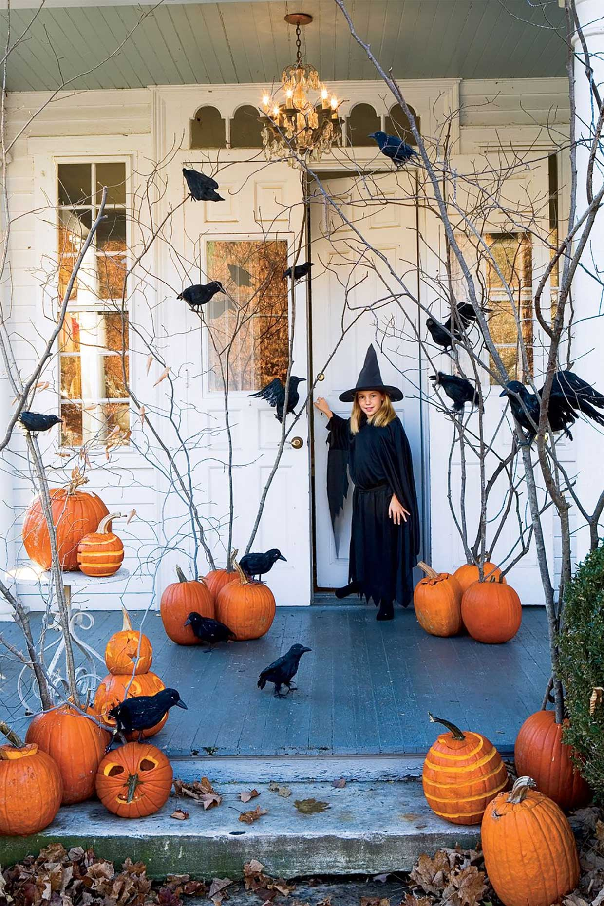 Halloween Decorations Pumpkins Ravens