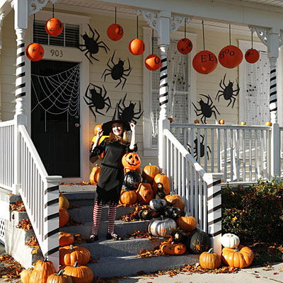Halloween Porch Railings