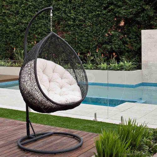 Hanging Egg Chair Outdoor Black