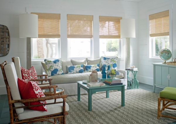 Light and Natural Tones of Bamboo Blinds
