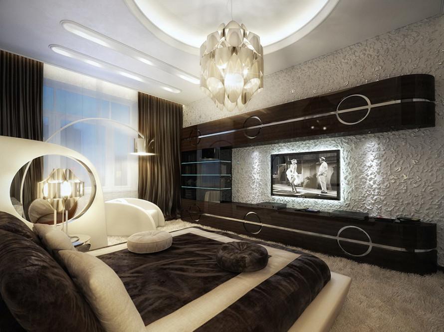 Modern Bedroom Black Furniture And Interior Design
