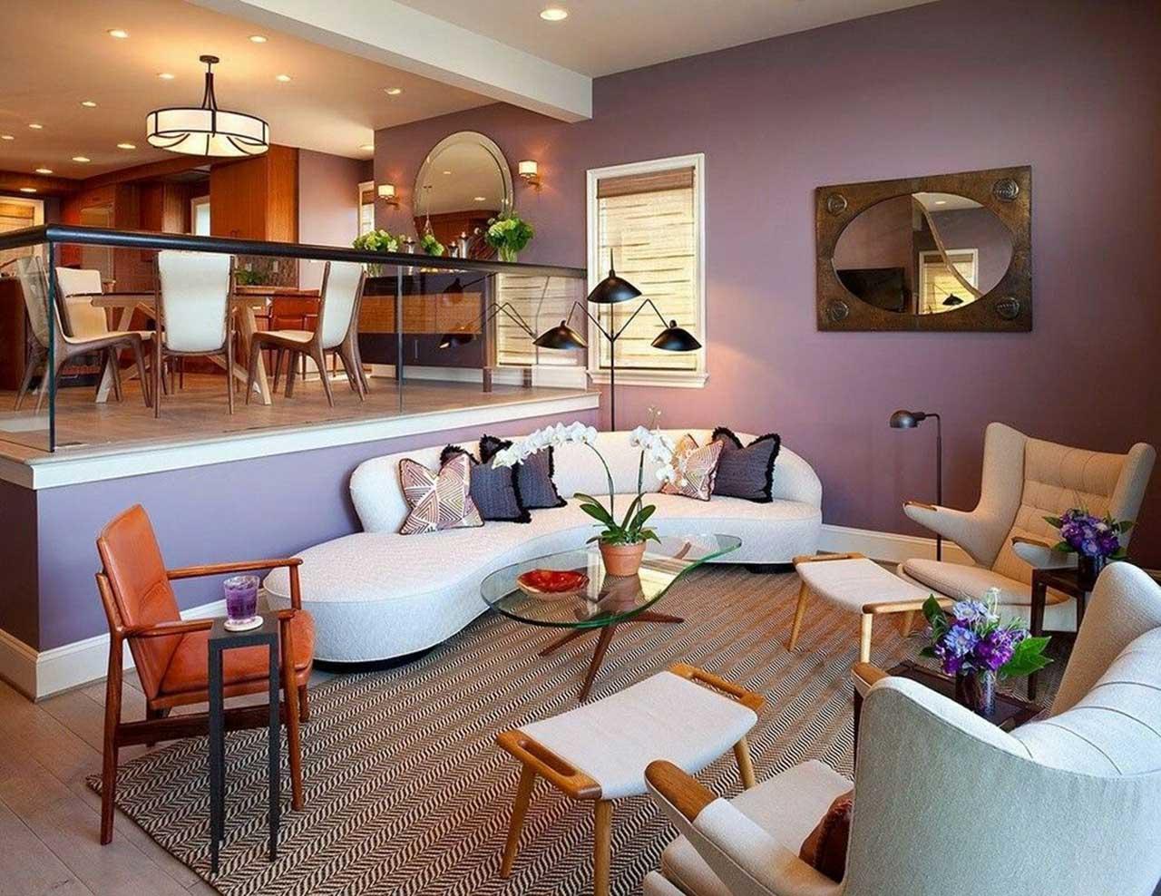 Sunken Lights in Contemporary Living Room