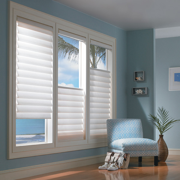 Window Blinds Blue and White Minimal and Modern