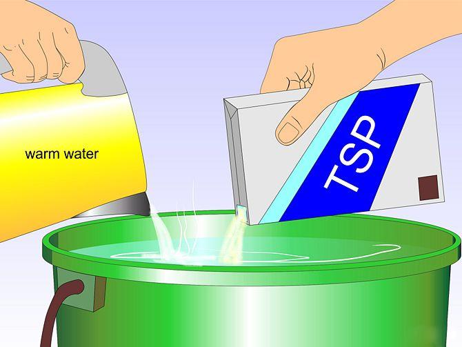 Mix TSP & Warm Water