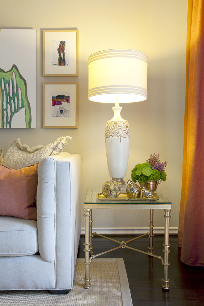 Contemporary Cream Paint Living Room