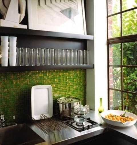 Green Backsplash Tiles