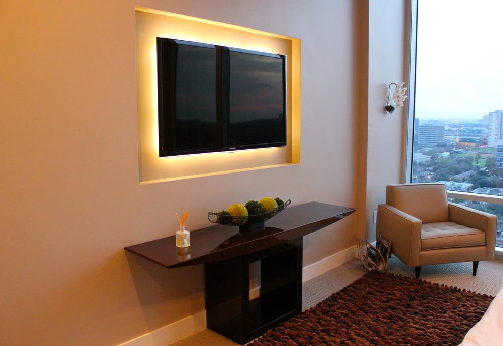 Led Lighting in Modern Media Room