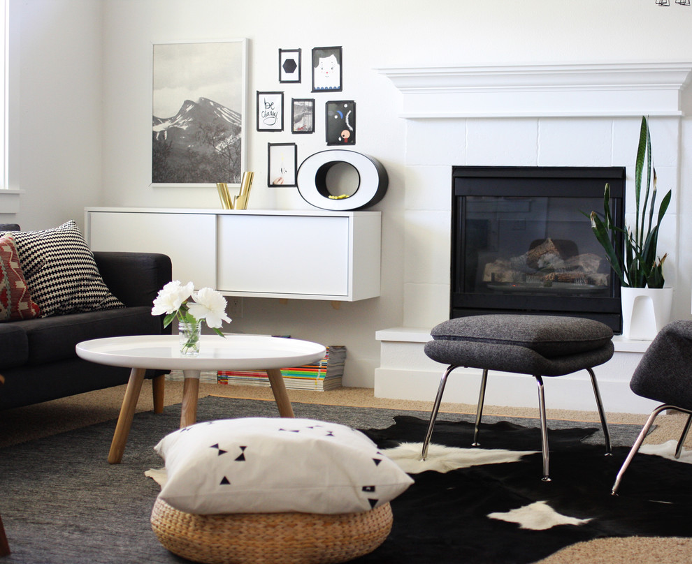 Playful Textiles in Modern Living Room