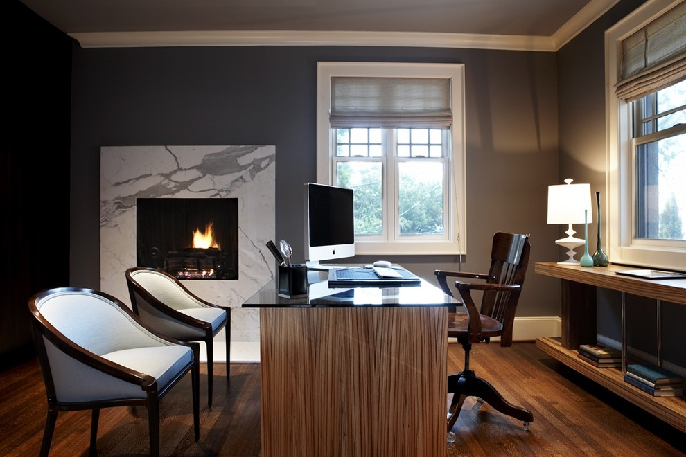 Soot In Contemporary Home Office