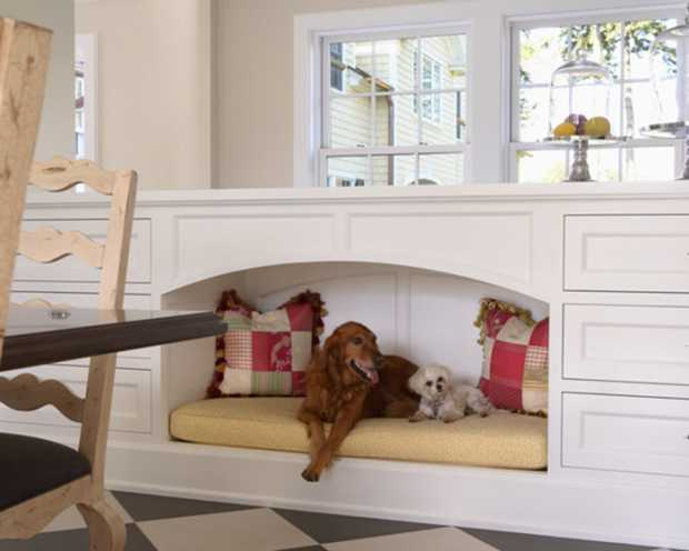 traditional-kitchen-surrounding-for-pets