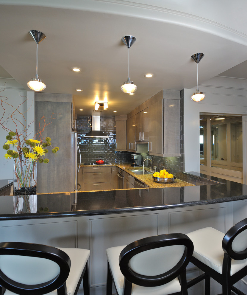 Unique Metals Contemporary Kitchen