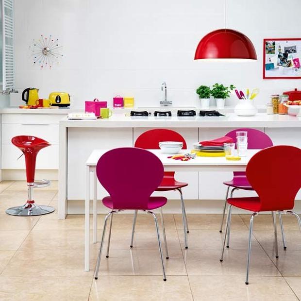 White Kitchen Colorful Accessories
