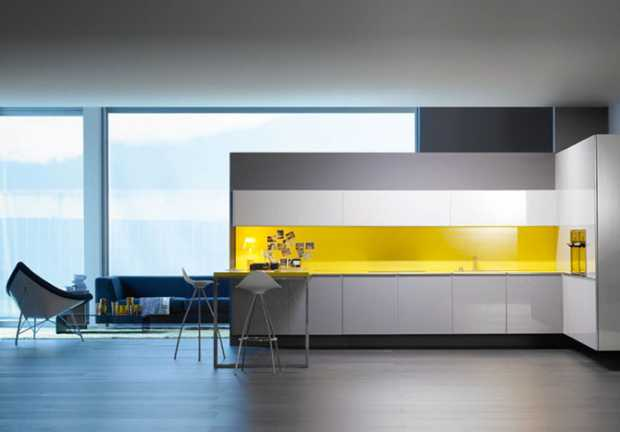 Yellow Kitchen Backsplash Modern Design Backsplash Kitchen