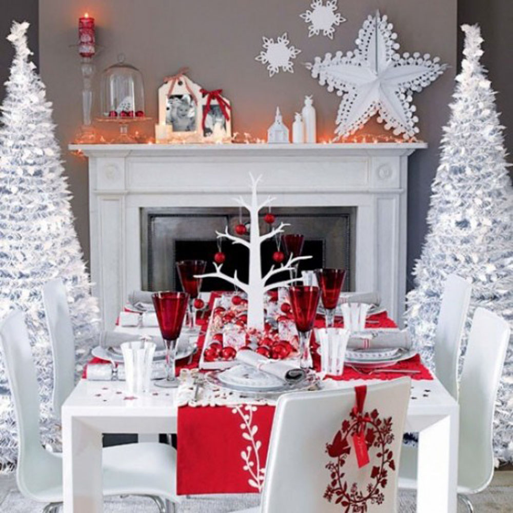 Perfect christmas table setting my decorative for Table noel rouge et blanc