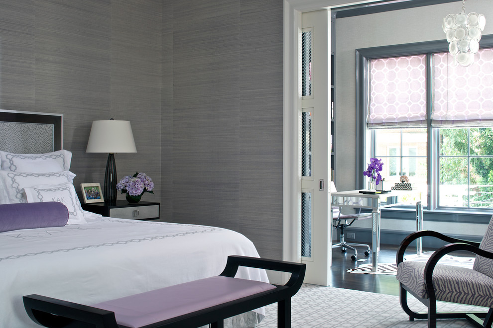 Gray and Lavender Bedroom