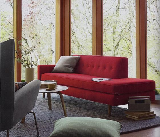 Red Warm Winter Sofa