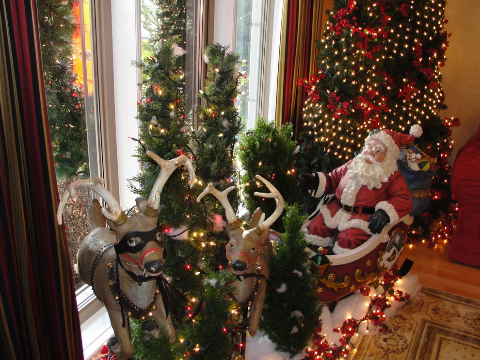 Christmas entrance decoration my decorative - Pictures of homes decorated for christmas on the inside ...