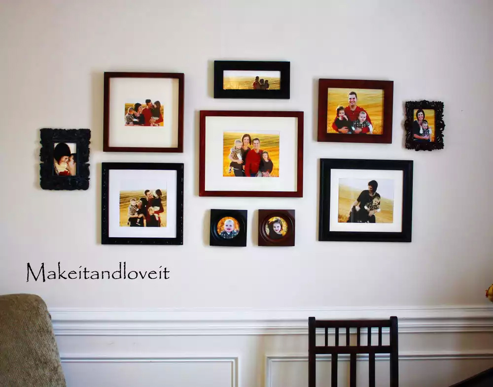 A Gallery Wall Of Family Portraits