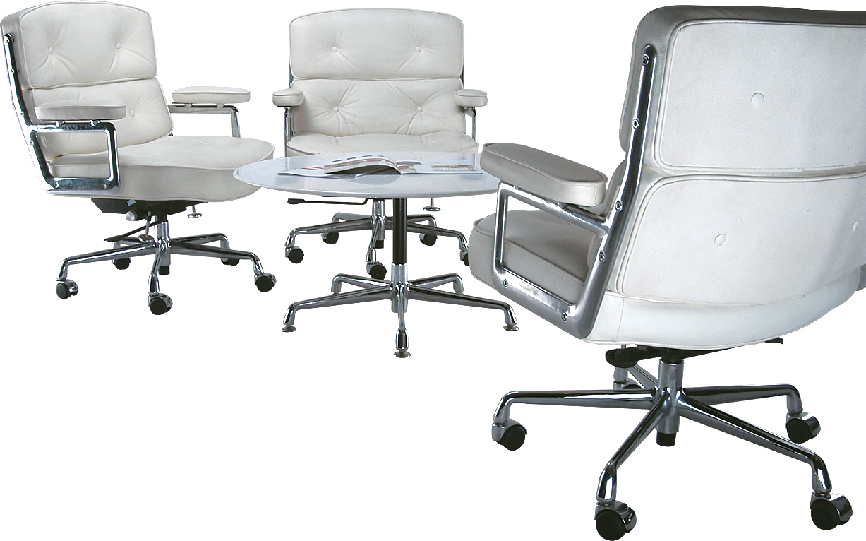 Ergonomically Designed White Chairs