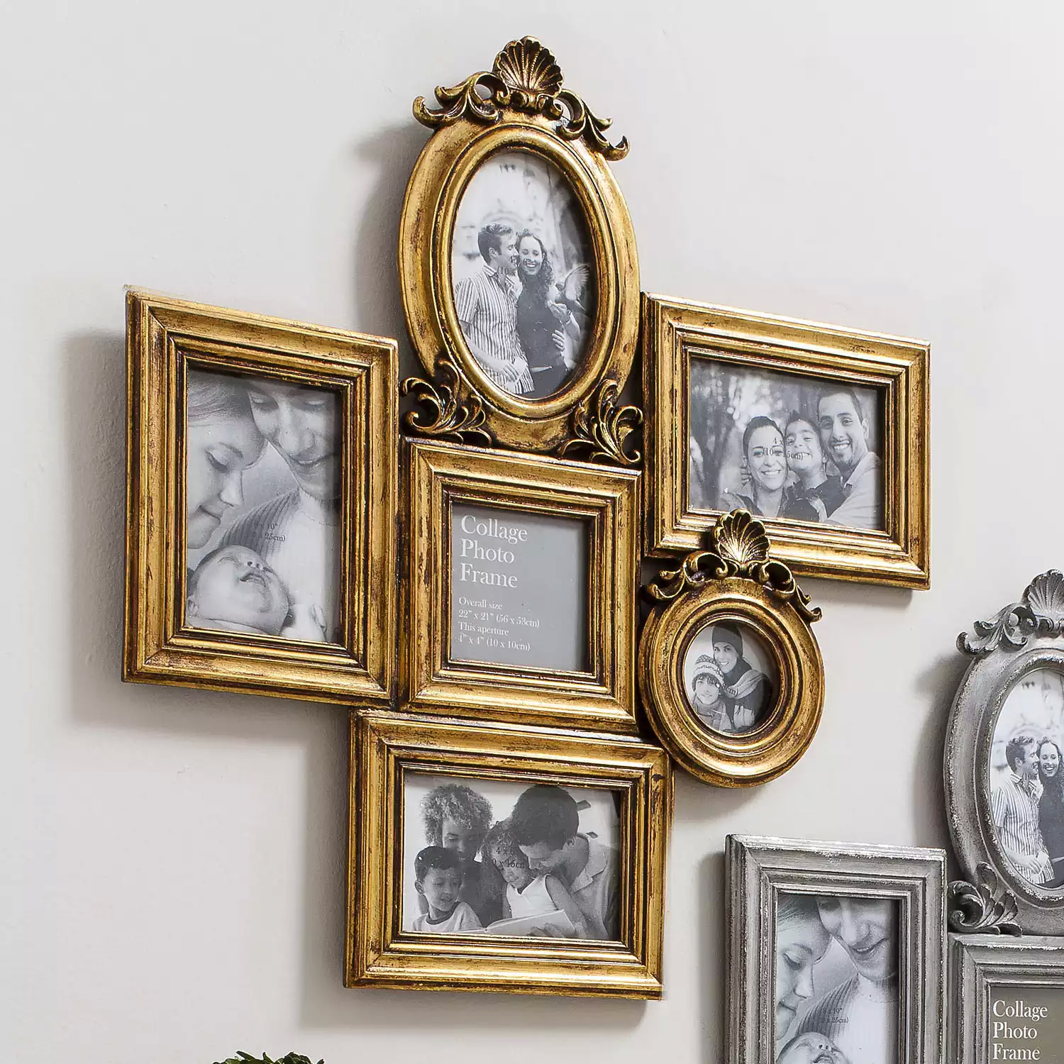 Gallery Direct Campbell Collage Frame in Gold