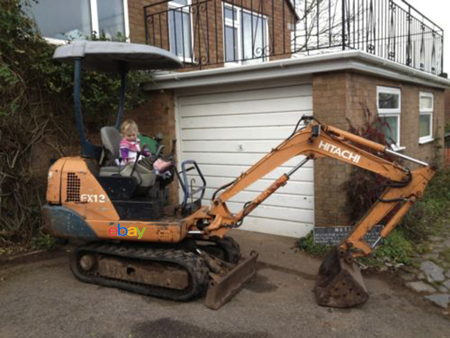 Hitachi Ex 12 Mini Digger Excavator On Ebay