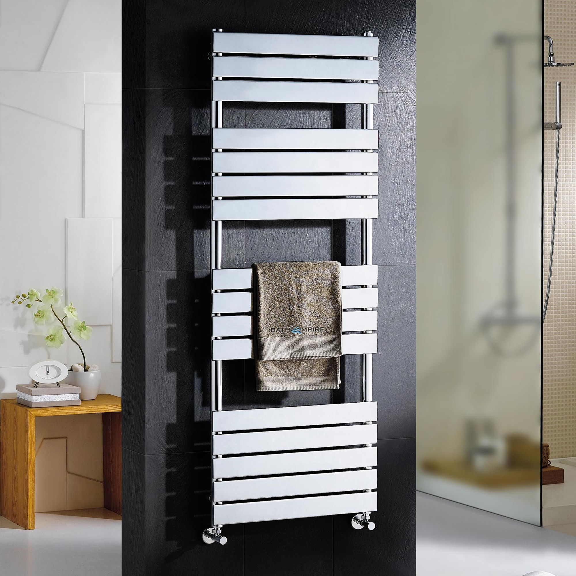 Francis Chrome Flat Panel Electric Towel Radiator