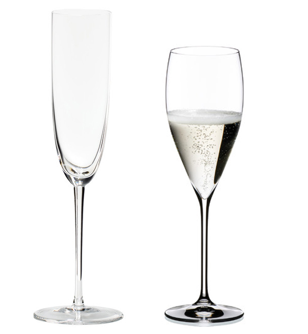 Regular and Fine Crystal Wine Glasses