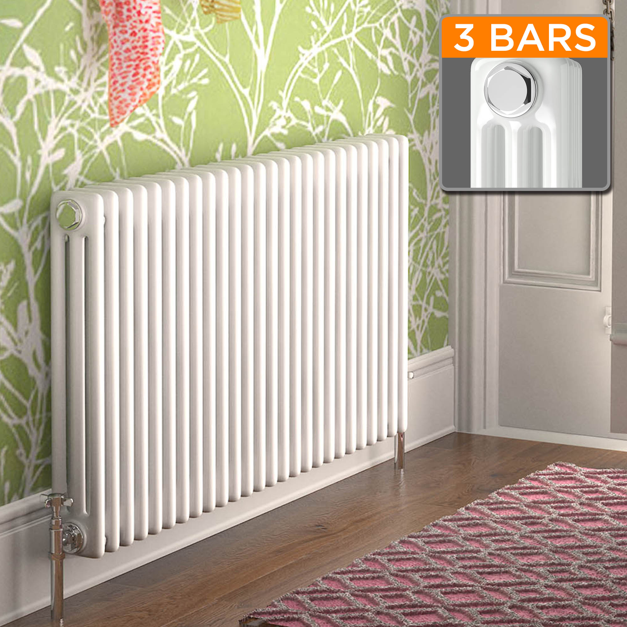 White Triple Panel Horizontal Colosseum Radiator