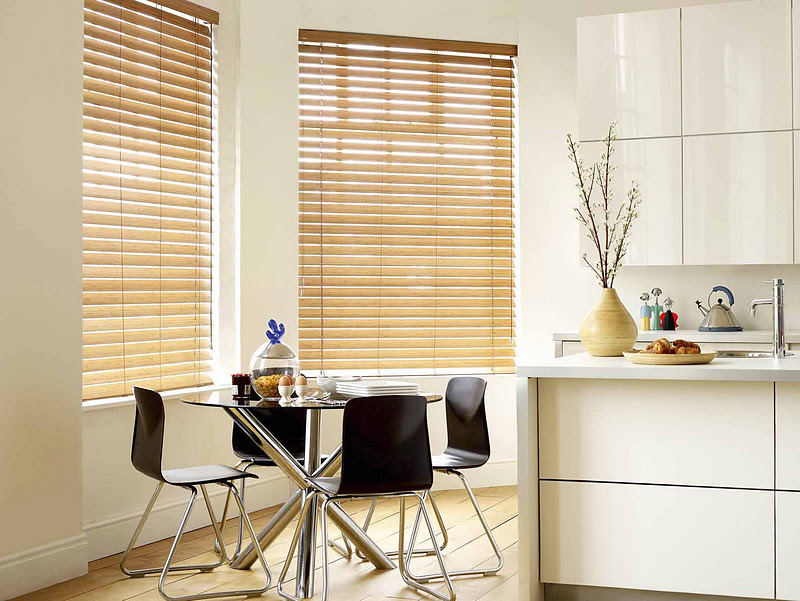 Bamboo Blinds in Kitchen