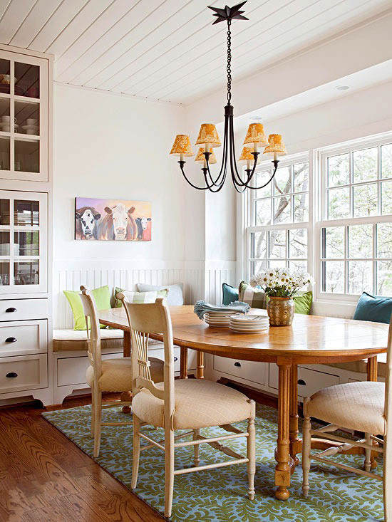 Bright White Dining Room