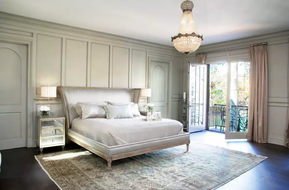 French Bedroom With Chandlier