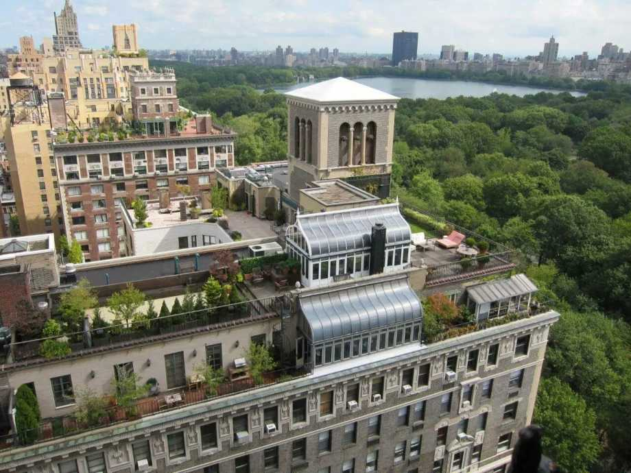 New York City central park roof top garden  view
